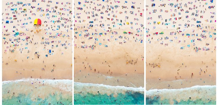 Coogee Beach Triptych