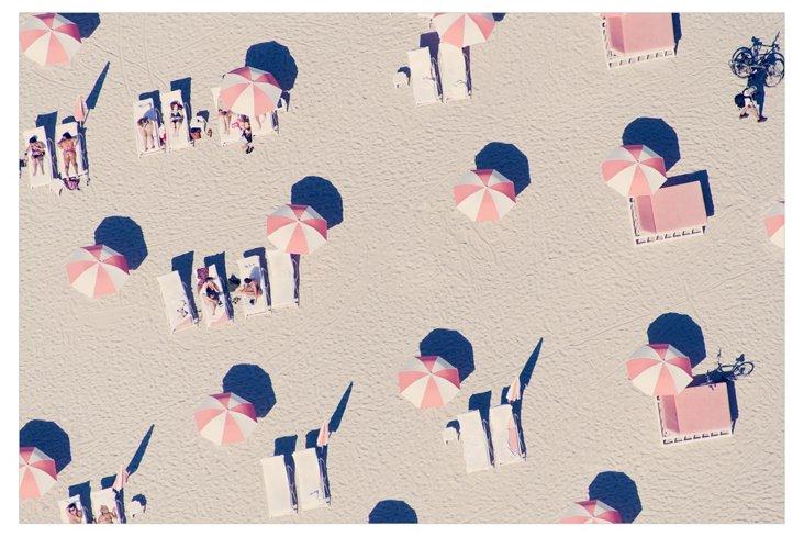 Gray Malin, Miami Pink Umbrellas