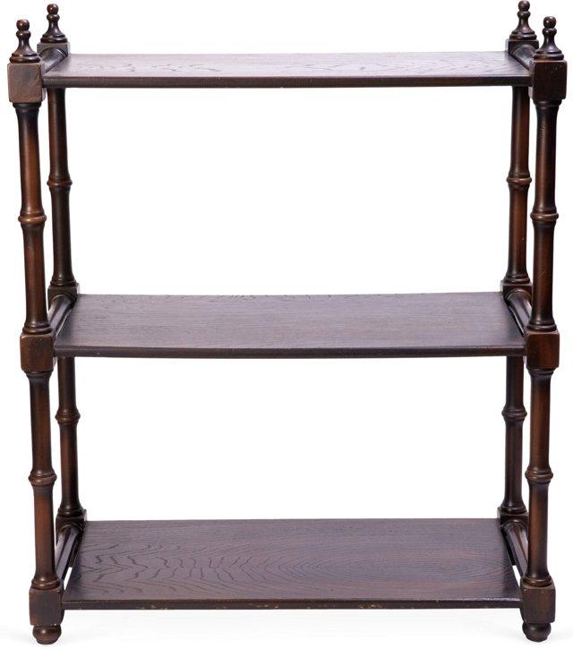 1940s Walnut Display Shelf