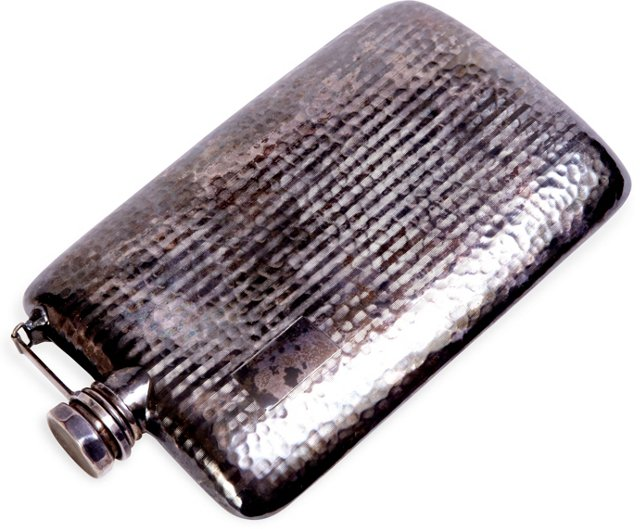 Hammered Aluminum Flask