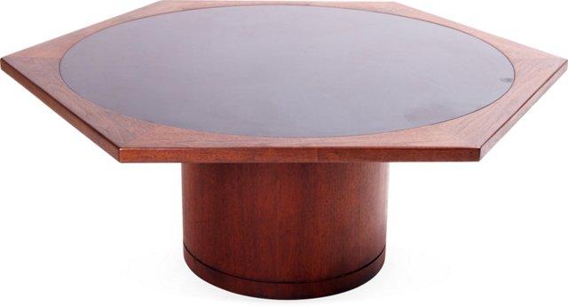 Walnut & Laminate Coffee Table