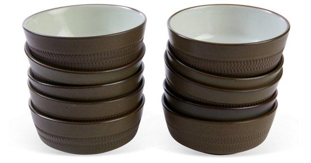 Denby Bowls, Set of 10