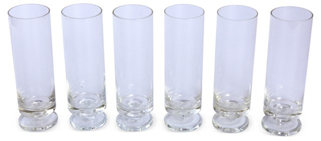 Clear Pilsner Glasses, Set of 6