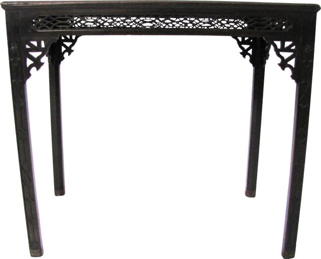 Chippendale-Style English Silver Table