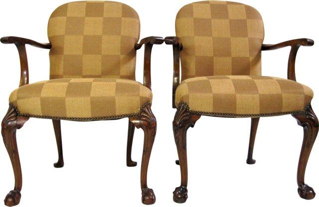 19th-C. Regency Chairs, Pair
