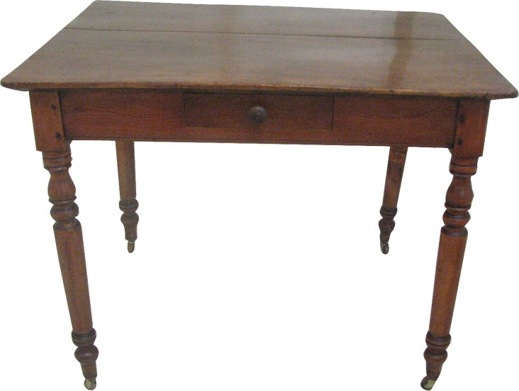 19th-C. Pine Kitchen Table