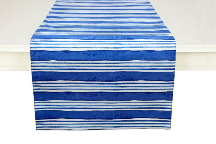 Large-Stripe Runner, Blue