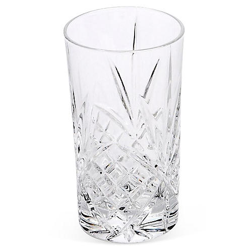 S/4 Crystal Dublin Highball Glasses