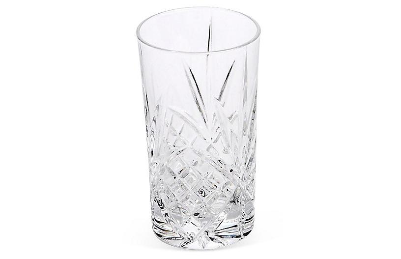 S/4 Crystal Dublin Highball Glasses