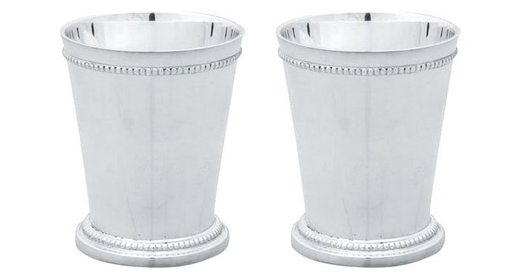 S/2 Silver-Plated Mint Julep Cups