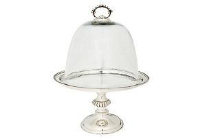 Godinger Pedestal Cheese Glass Dome