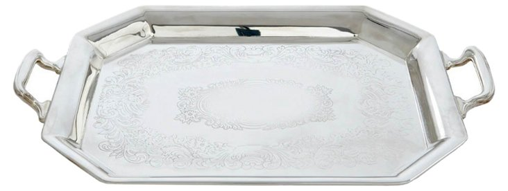 Silver-Plated Etched Tray