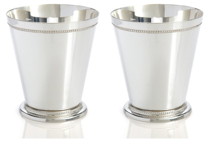 S/2 Silver-Plated Mint Julep Cups, Med