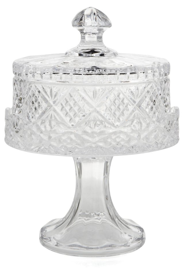 Small Dublin Footed Cake Plate w/ Dome