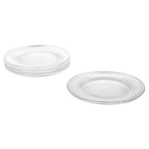 S/4 Fire & Ice Dessert Plates