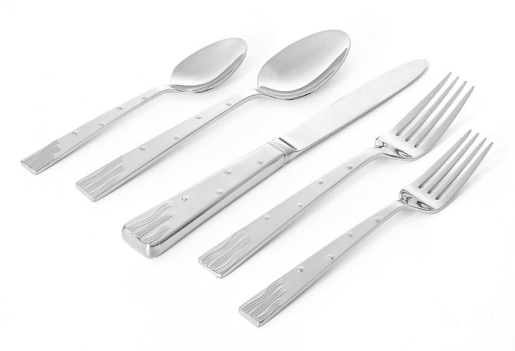 5-Pc Nightscape Place Setting, Silver