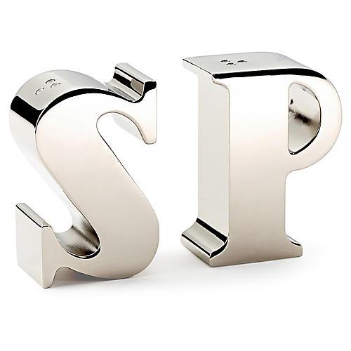 """S"" & ""P"" Salt & Pepper Shakers"