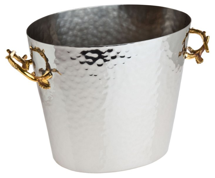 Hammered Steel Wine Bucket