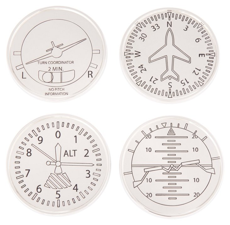 S/4 Assorted Airplane Coasters