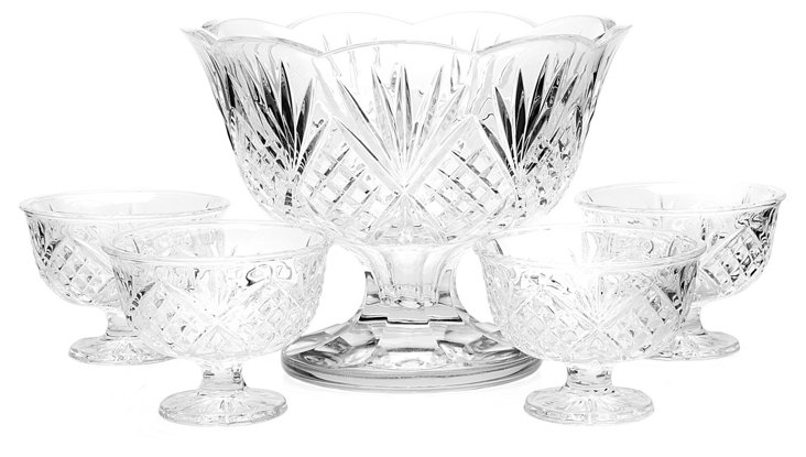 5-Pc Dublin Dessert Set, Crystal