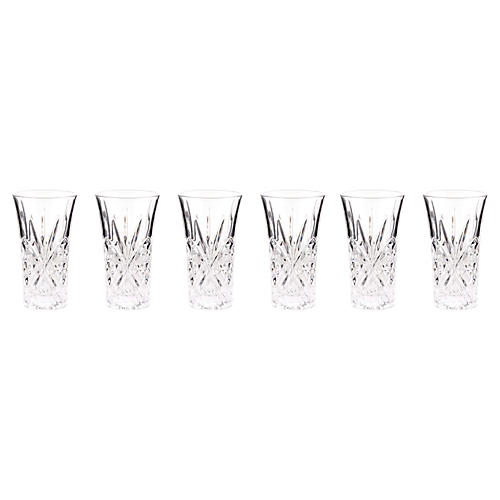 S/6 Crystal Dublin Shot Glasses
