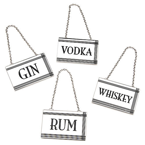 S/4 Rectangular Liquor Labels