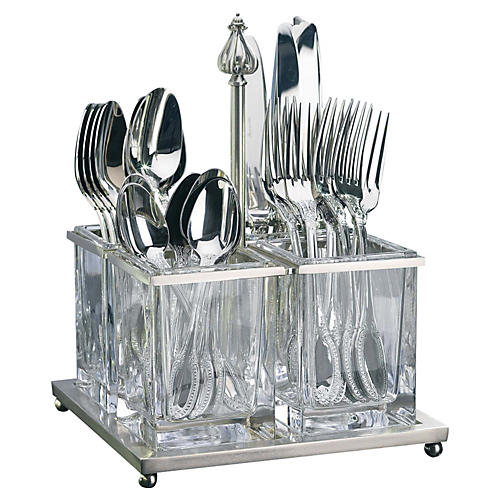 Clear Flatware Caddy