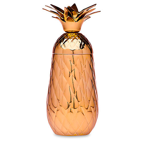 Pineapple Cocktail Shaker, Copper