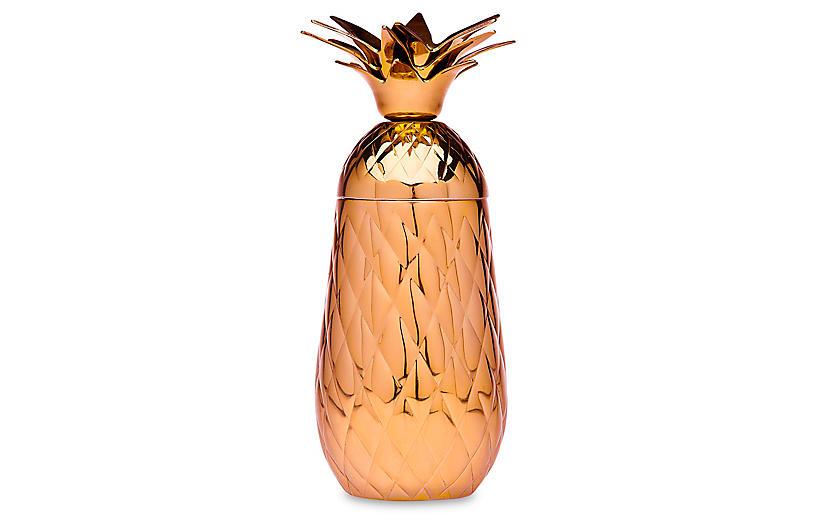 Pineapple Cocktail Shaker, Copper