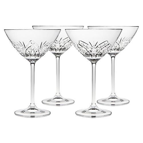 S/4 Dublin Reserve Martini Glasses, Clear