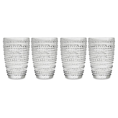 S/4 Lumina Highball Glasses, Clear