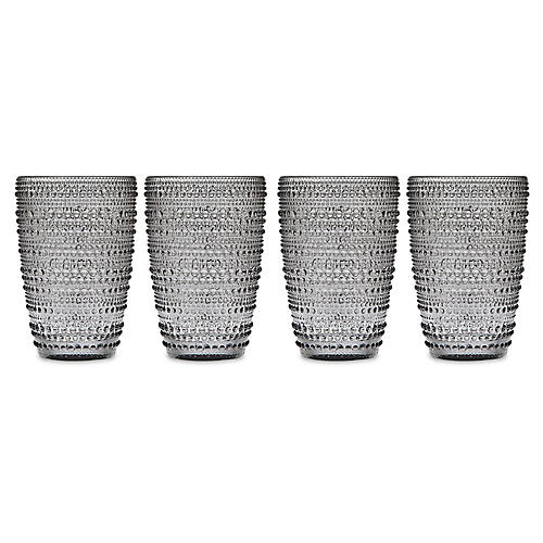 S/4 Lumina Highball Glasses, Smoke