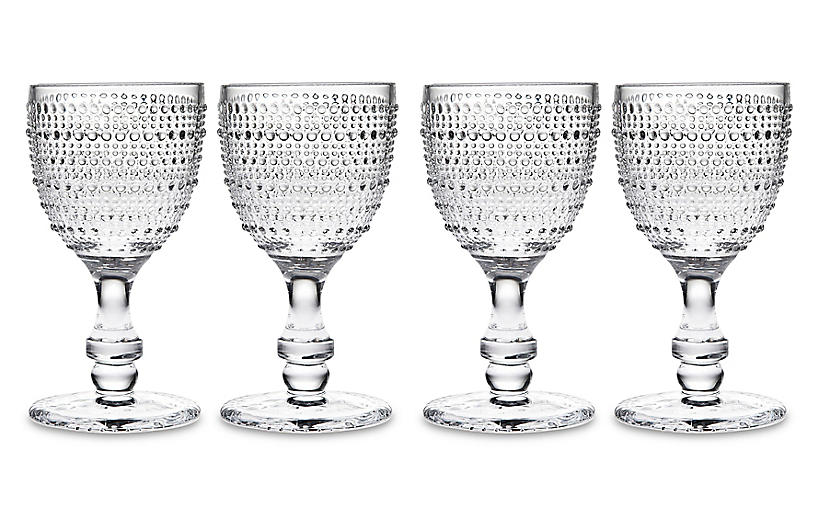 S/4 Lumina Goblets, Clear