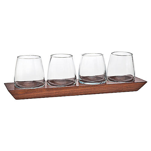 S/4 Magnus DOF Glasses w/ Tray, Brown/Clear