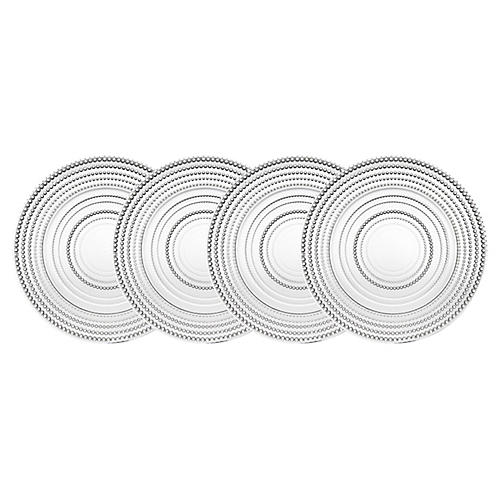 S/4 Lumina Dinner Plates, Clear