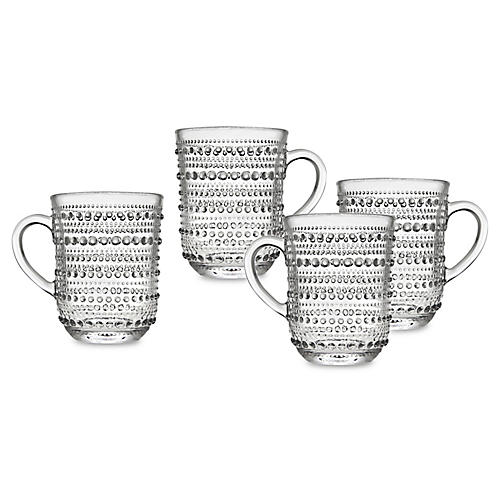 S/4 Lumina Mugs, Clear