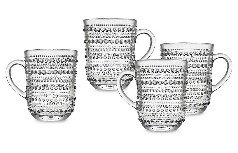 S/4 Lumina Mugs, Clear