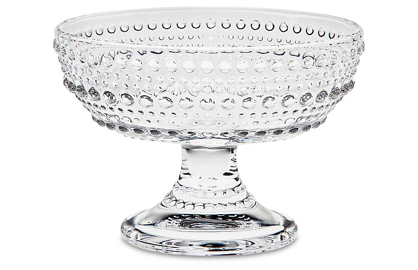 Lumina Oval Footed Serving Bowl, Clear