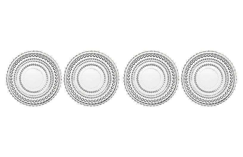 S/4 Lumina Coasters, Clear