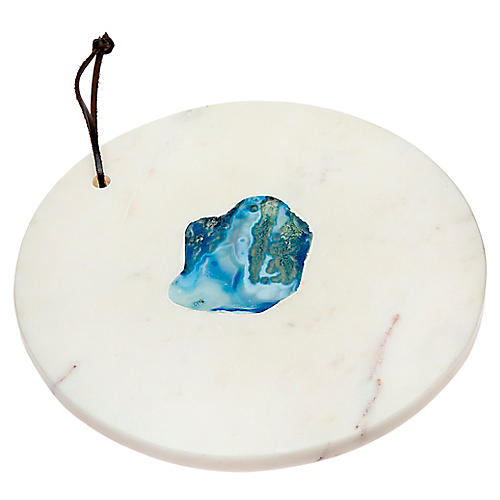 Percy Cheese Board, White/Blue
