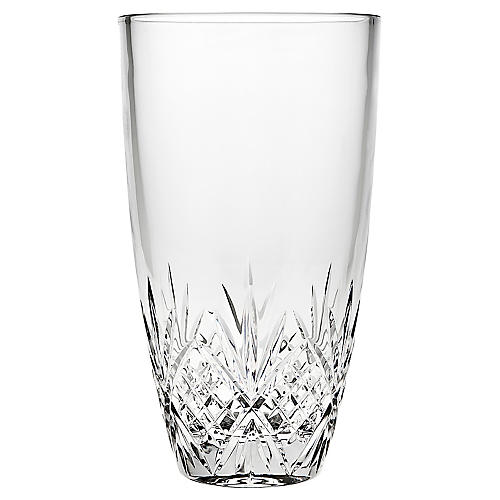 "10"" Meadow Crystal Vase, Clear"