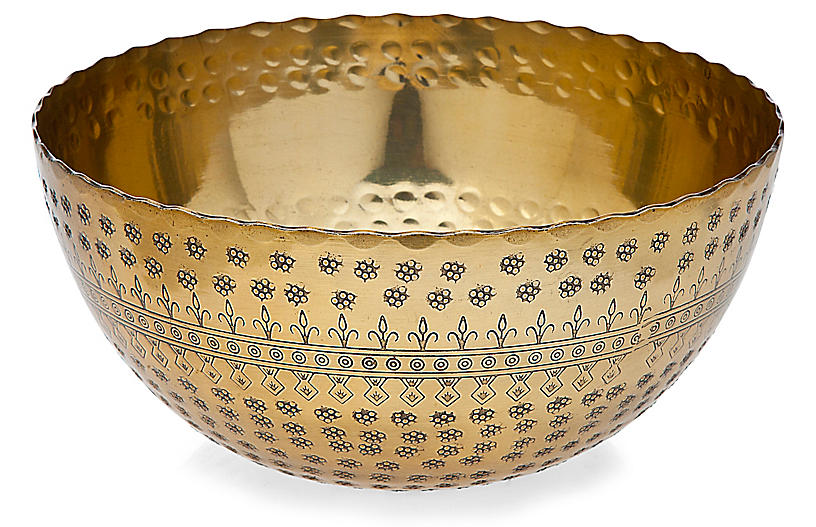 Rubi Serving Bowl, Brass