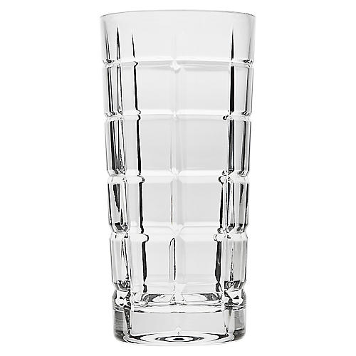 S/4 Luciana Highball Glasses, Clear