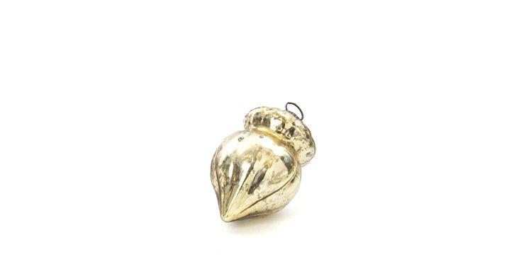S/9 Gold Acorn Ornaments