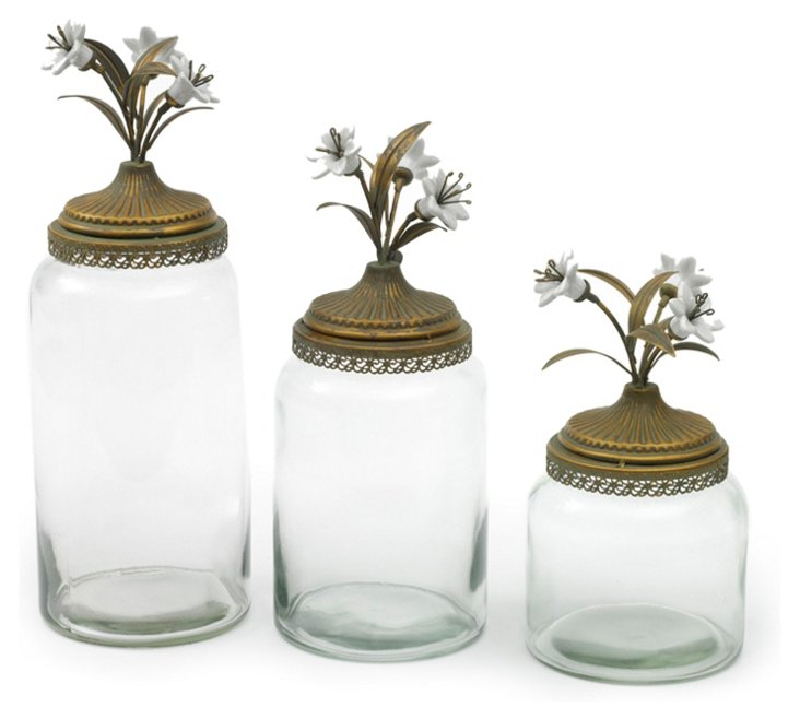 Asst. of 3 Flowering Canisters