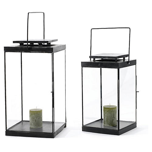 Asst. of 2 Conran Lanterns, Dark Brown