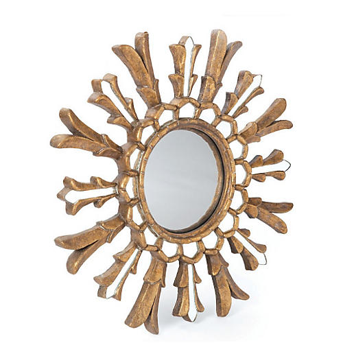 "Raina 21"" Wall Mirror, Gold"