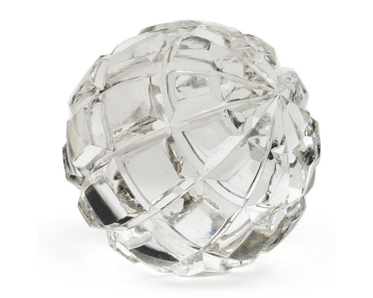 """4"""" Faceted Glass Sphere, Clear"""