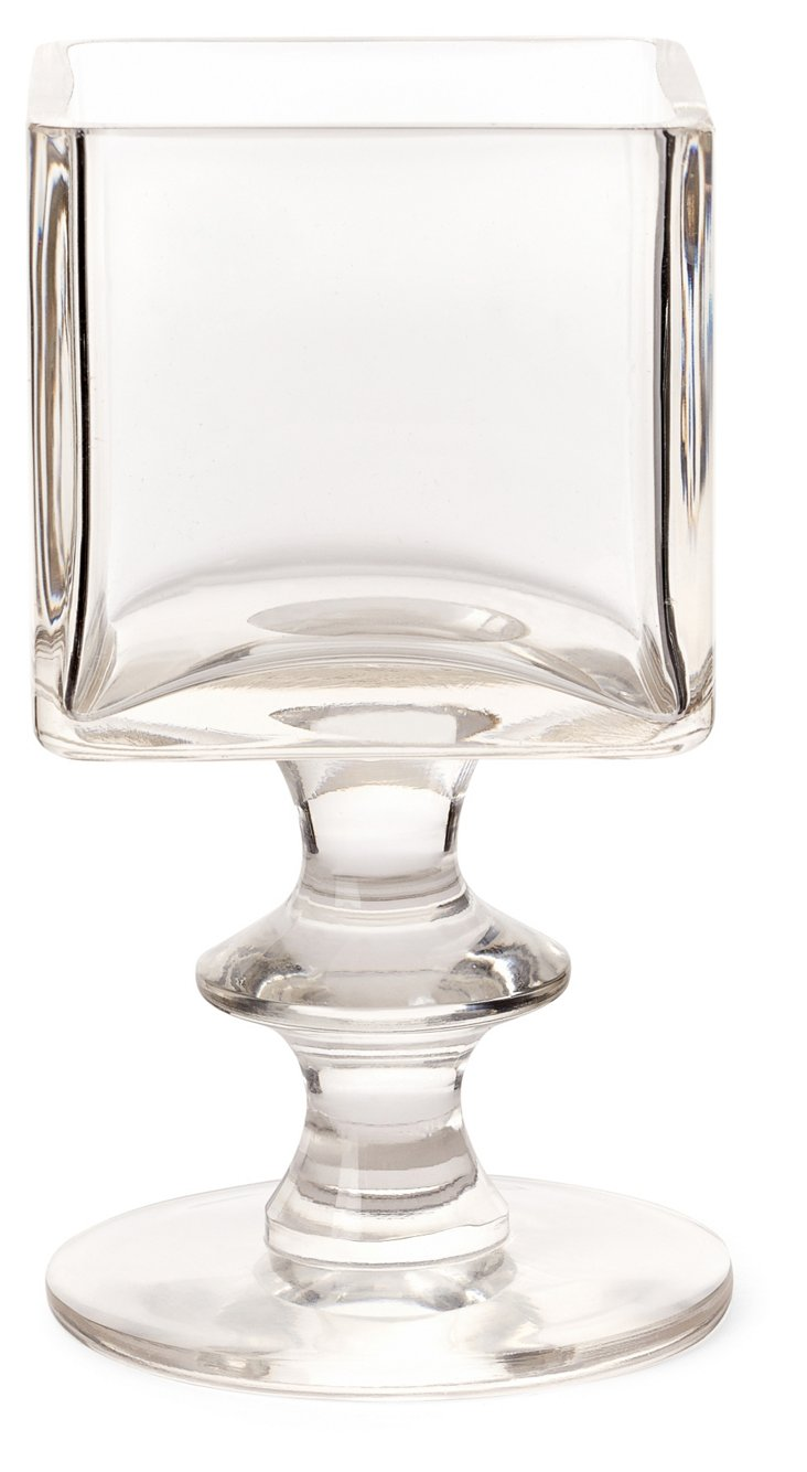 Pair of Grande Candleholders, Clear