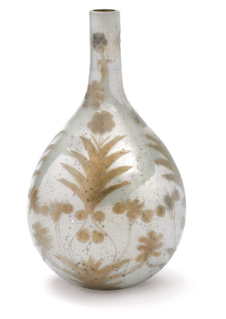 """16"""" Opal Floral Vase, Silver"""
